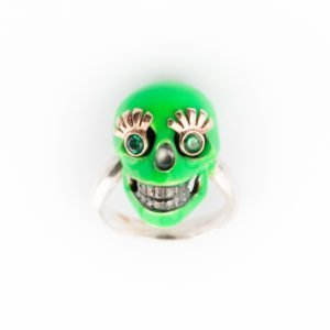 Anello Verde fluo THALIA