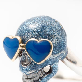Teschio Blu Glitter