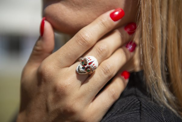 Divina Skull anello teschio messicano catrina